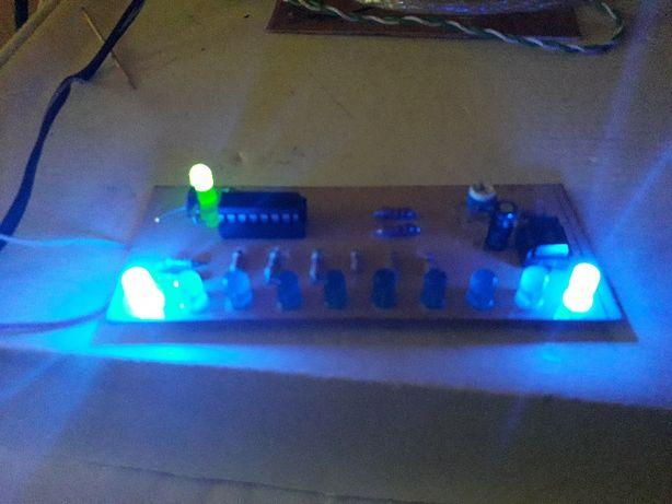 Joc de lumini Apa Curgatoare cu CD4017si NE555