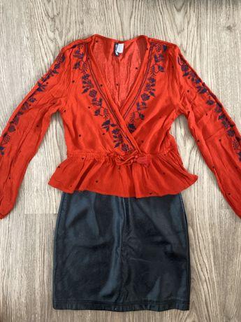 Bluza H&M + fusta Amisu
