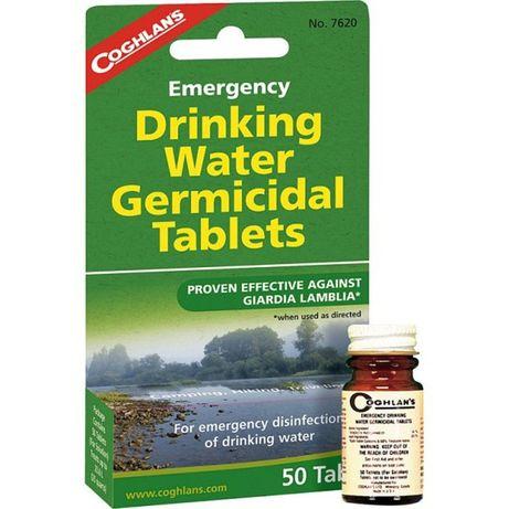 Tablete de purificat apa antivirale pentru camping si supravietuire
