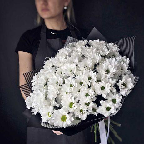 Букет Хризантемы - Розы Букеты Цветы Доставка Цветов