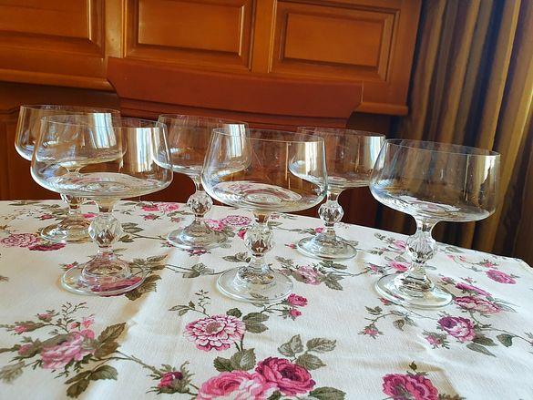 Комплект 6бр. чаши калиево стъкло