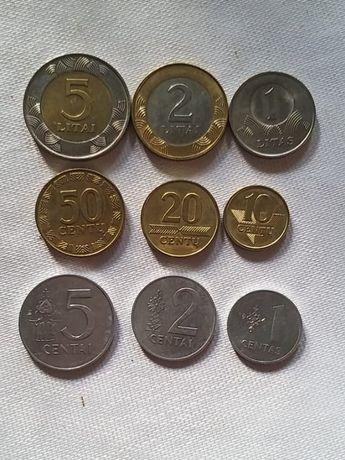 Монеты (ЛИТВА полный комплект)