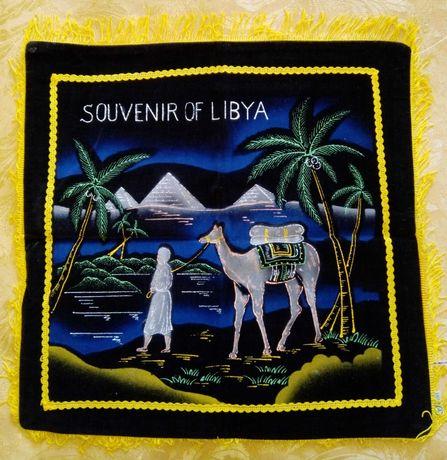 калъфка за възглавница - пирамиди, палми, камила