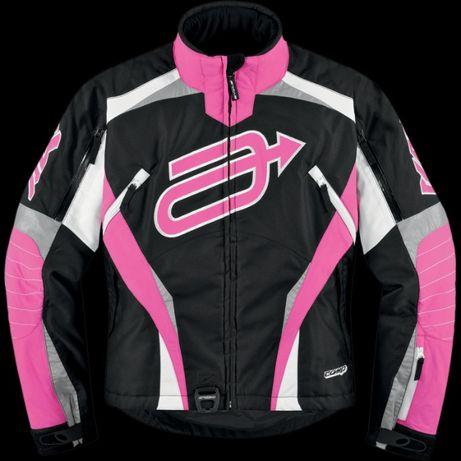 Costum dama ski, snow, moto ATV, enduro Arctiva negru/roz - M