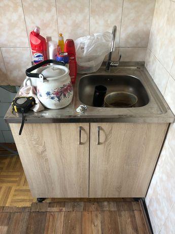 Мойка с тумбой для кухни. Без смесителя.