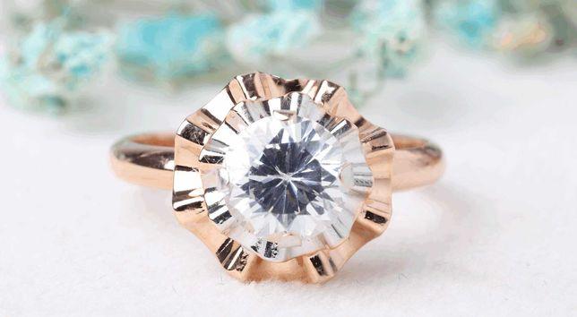 0% Кольцо с камнями , золото 585 Россия, вес 1.70 г. «Ломбард Белый»