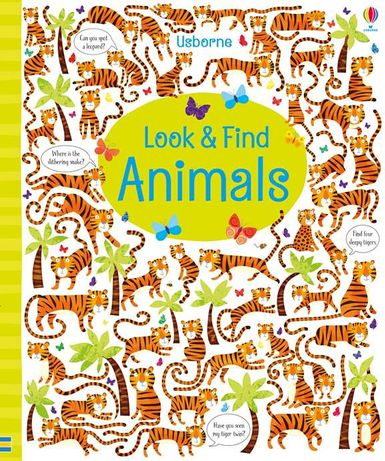 Look and find animals, zoo, jungle