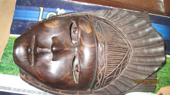 Продавам маска от махагон - дърворезба,БАРТЕР ЗА лаптоп