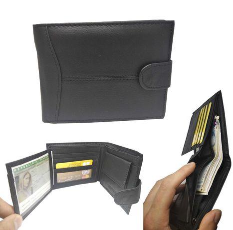 Мъжко портмоне от естествена кожа с 14 отделения - мъжки портфейл