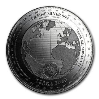 Moneda argint 999 lingou, Terra 2020 1 uncie = 31 grame