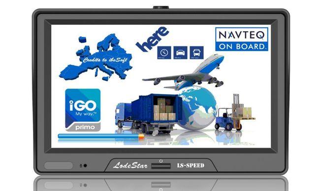 "Navigatie GPS 7""HD pentru Camion/Camioane, Gabarit+Tonaj+ADR+PARASOLAR"