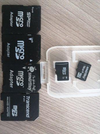 Карта памяти Micro SD 16 Gb с адаптером 3 тыс