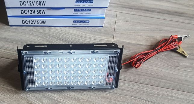 Reflector proiector LED SMD - 12V/50W alb rece camping pescuit