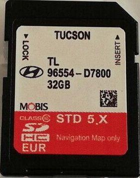 Hyundai Tucson Навигационна Sd Card Full Europe + Russia 2019 Сд Карта
