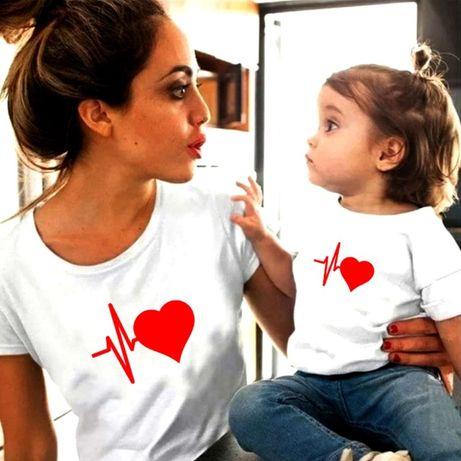 Set tricouri personalizate pentru mama-fiica