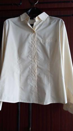 Нова дамска риза с дълъг ръкав, цвят шампанско