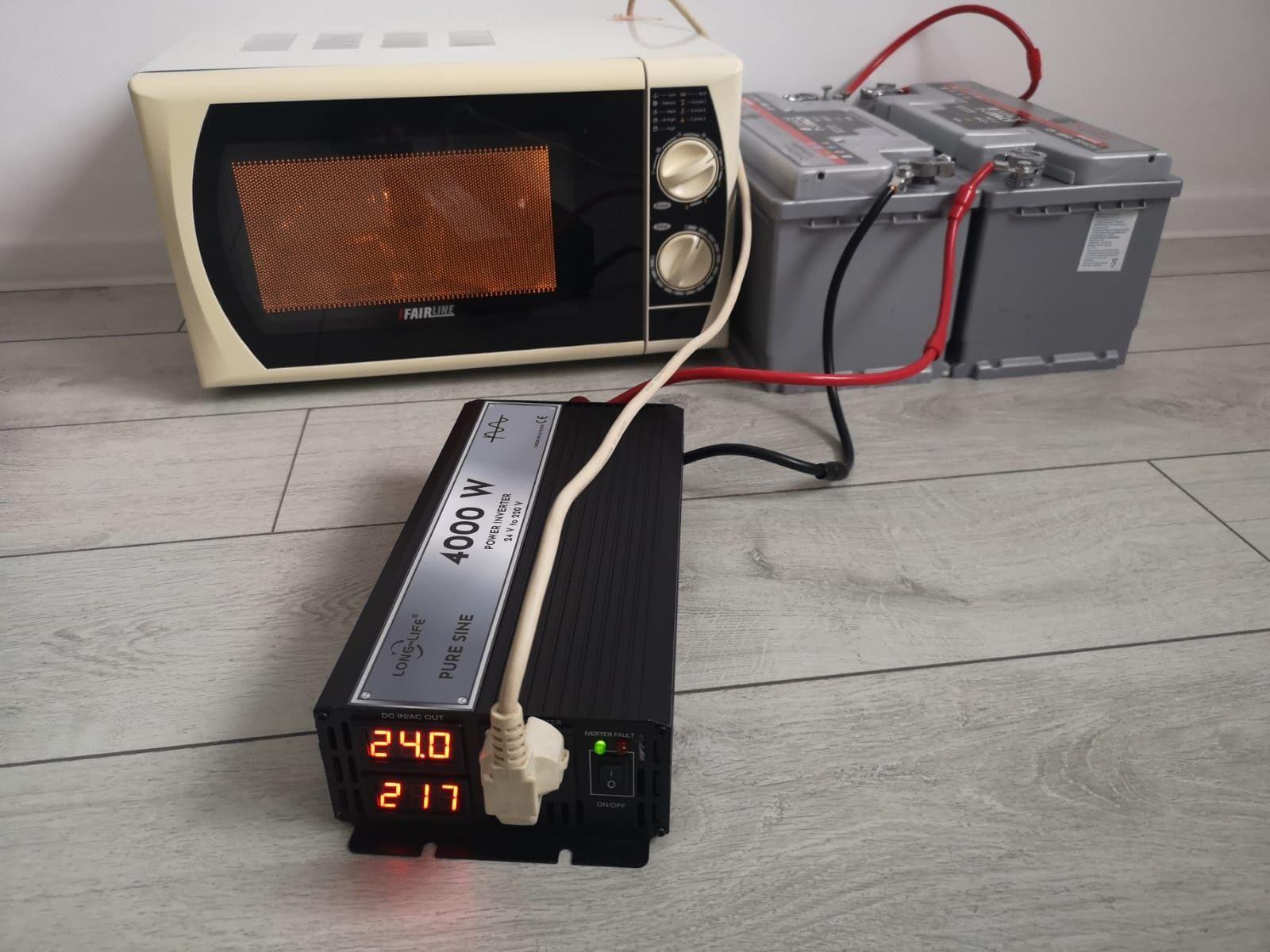 INVERTOR unda pura 24 V-220V, SINUS PUR, tir, duce orice electrocasnic