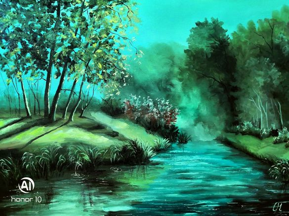 """Картина """"На реката"""""""