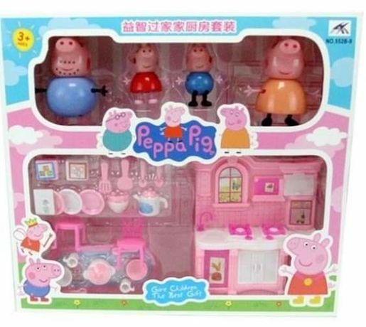 Пепа Пиг Peppa Pig семейство с кухненски сет ПРОМО до 30 Юни