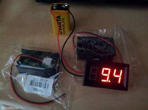 Voltmetru 3.3-30V 0-100V LED