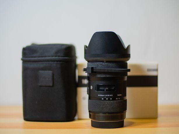 Obiective ef canon Sigma ART 18-35 f1.8 Canon 85mm Yongnuo 50mm f1.4