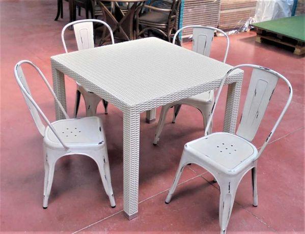 Lichidare de stoc set terasa masa si 4 scaune tabla