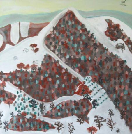 Tablou original Viorel Marginean-Peisaj de iarna.