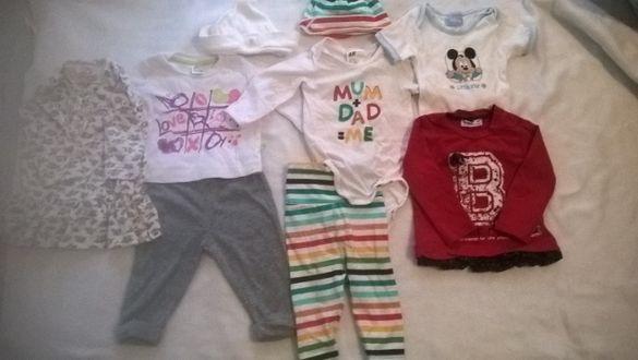 Детски дрешки 0-12 месеца