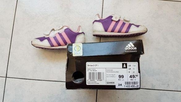 Страхотни оригинални Маратонки Adidas - бяло и лилаво !