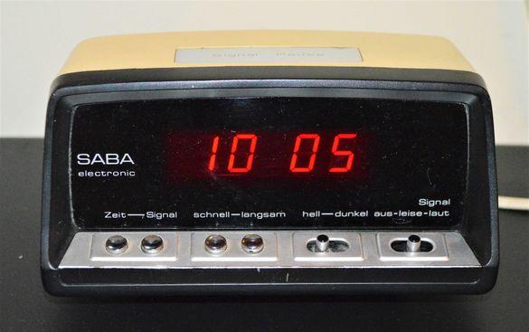 SABA electronic електронен часовник будилник