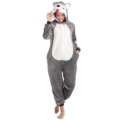 Pijama dama, model Husky Love, onesie, pijama intreaga, kigurumi
