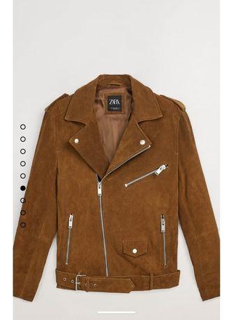 Ofertă! Jachetă Zara Nouă, Piele 100