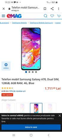 Samsung Galaxy A70-128gb 6gb ram. Impecabil