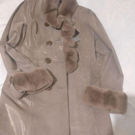 Кожаная лазерная куртка