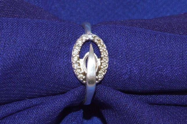 INEL argint cu 25 diamante, 2 gr, marcaje 925 si DJ10 , perfecta stare