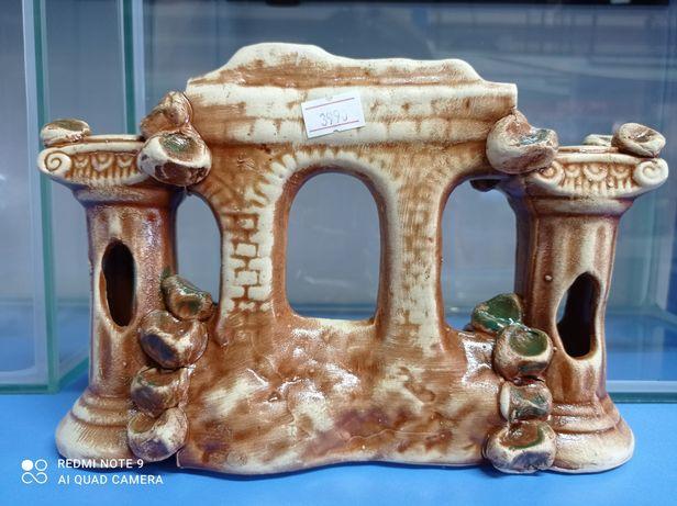 Декор для аквариума колонны