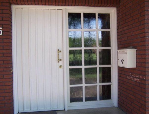 Usa casa vila firma intrare lemn geam vitraliu termopan H 225 x L 225