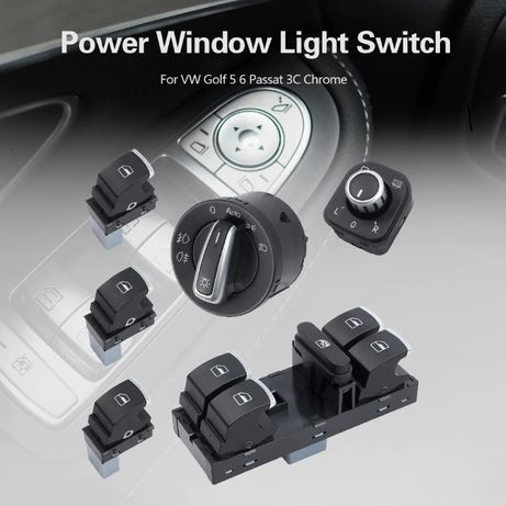 Set butoane geamuri electrice bloc lumini Volkswagen Passat B6
