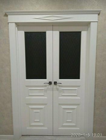 Установка межкомнатных дверей, плинтуса МДФ, укладка ламината