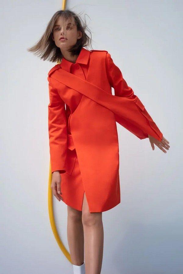 Palton primăvară Zara Pratt Fashion ediție limitata