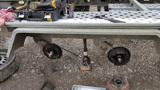 Reparatii platforme,remorci,rulote  reglaj frane schimb saboti,cabluri