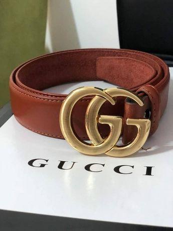 Curele Gucci model unisex,logo metalic auriu,piele eco/saculet inclus