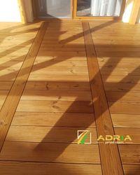 Deck lemn terasa exterior pin nordic termo tratat