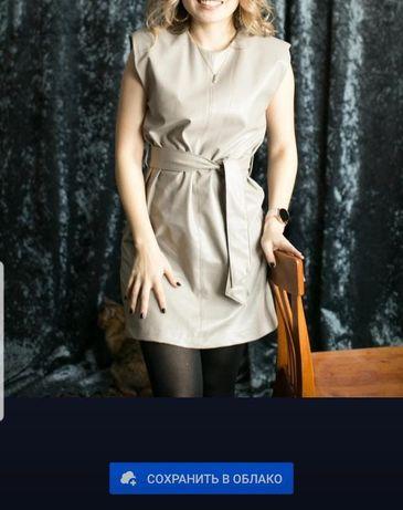 Продам платье из эко кожи