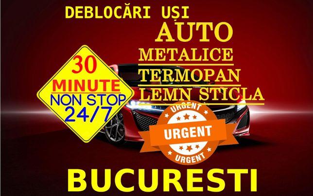 Deblocari Usi AUTO-Metalice-Lemn-Termopan-Sticla BUCURESTI
