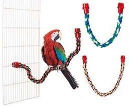 Трос канатный для попугая в клетку