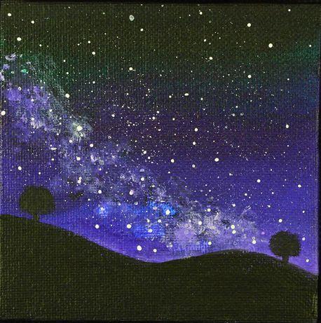 """""""Night sky"""" - pictură"""