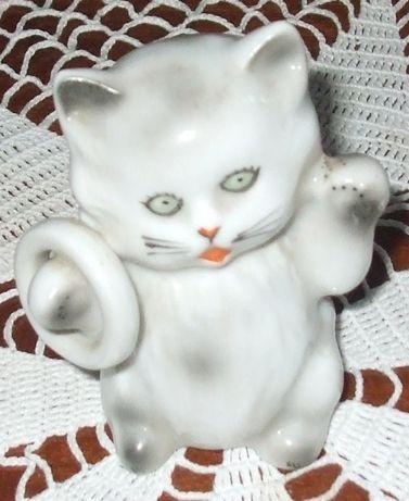 Bibelou statueta pisica felina japoneza cat deosebit vechi antichitate