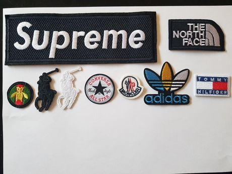 Stikere logo haine supreme north face gucci ralph moncler tommy adidas