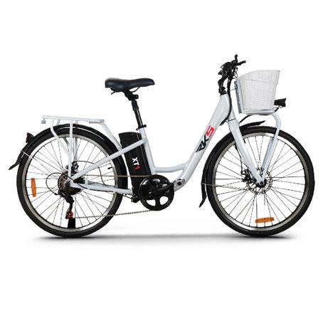 Bicicleta Electrica Deluxe XT1 250W, LITIU 36V 10A, Culoare ALBA, NOU